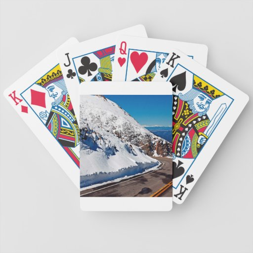 Winter Scene Mountain Road Cold Daytime Poker Cards