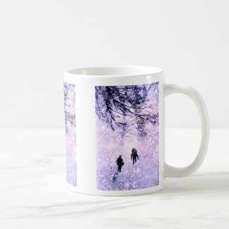 Winter scene mugs