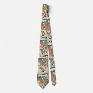 winter scene no2  -vintage Japanese art Neck Tie