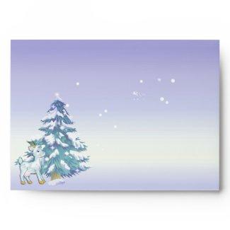 Winter Scene Noel Goats Custom Envelope envelope