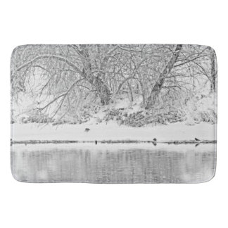 Winter Scene on the Platte River Bath Mat