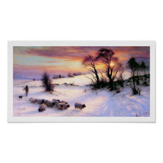 Winter Scene Painting by Joseph Farquharson Posters
