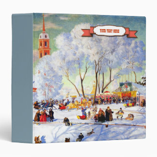 Winter Scene Painting Christmas Gift Binders