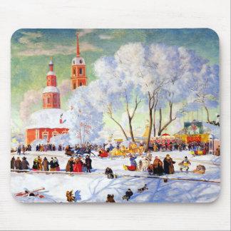 Winter Scene Painting Christmas Gift Mousepads