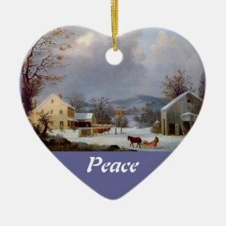 Winter Scene / Peace Ornament