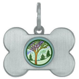 WINTER SCENE PET ID TAG
