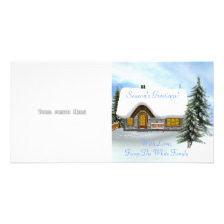 Winter Scene Photo Card Template