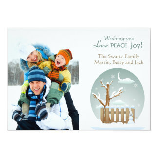 Winter Scene Photo Holiday Card