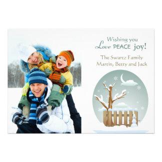 Winter Scene Photo Holiday Card