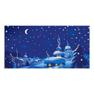 Winter Scene Photo Greeting Card