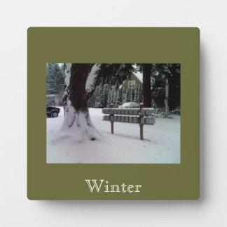 Winter Scene Plaque