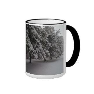 Winter Scene Ringer Coffee Mug
