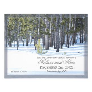Winter Scene Save The Date Invitation