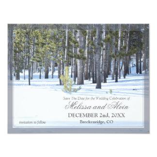 """Winter Scene Save The Date Invitation 4.25"""" X 5.5"""" Invitation Card"""