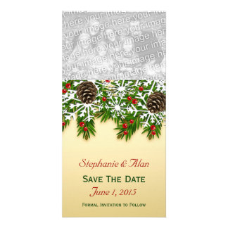 Winter Scene Save The Date PhotoCards Card