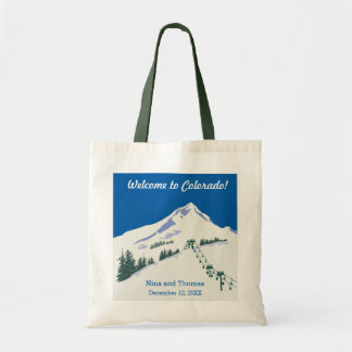 Winter Scene Ski Resort Tote Bag