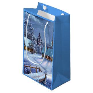Winter Scene Small Gift Bag
