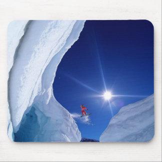 Winter Scene Snowboarder Mouse Pad