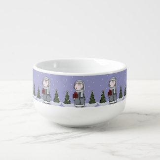 Winter Scene Soup Mug