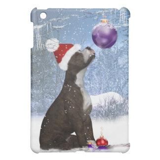 Winter Scene, Staffordshire Bull Terrier  iPad Mini Case