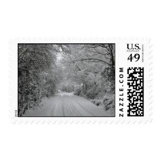 Winter Scene Stamp