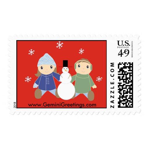 Winter Scene Stamps