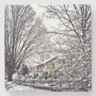 Winter Scene Stone Coaster