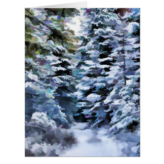 Winter Scene to Customize! Large Greeting Card