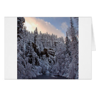 Winter Scene Total Whiteout Greeting Card