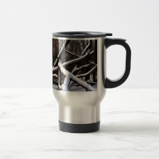 Winter Scene White Powder Woods Coffee Mug