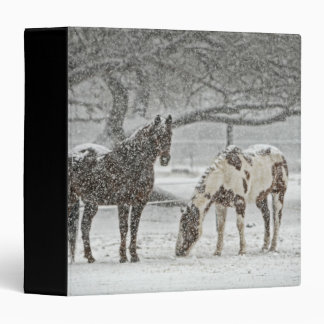 Winter Scene with 2 Horses Vinyl Binders