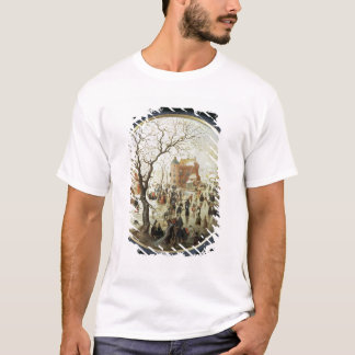 Winter Scene with Skaters near a Castle T-Shirt