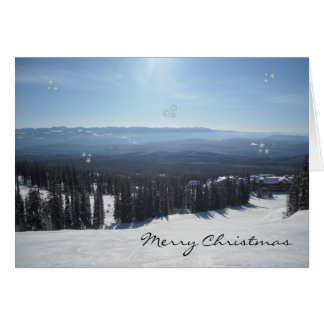 Winter Scene with Snow Covered Trees Greeting Cards