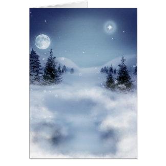 Winter scenery card