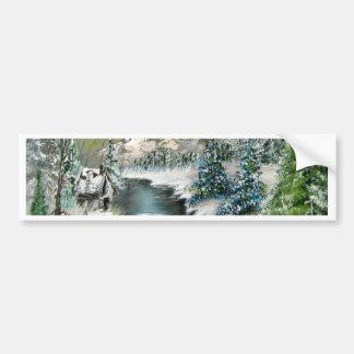 Winter Scenery Design Bumper Sticker