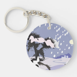 Winter Scenery Keychain