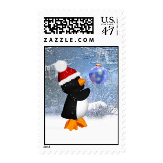 Winter Scenery Penguin Postage Stamp - Cute Stamp