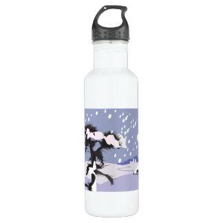 Winter Scenery Stainless Steel Water Bottle