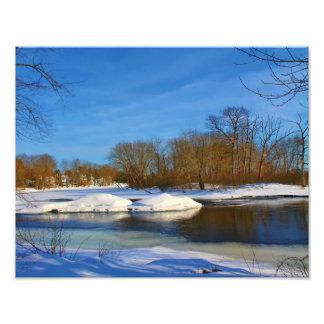 Winter Scenery - Webster Park Photo Print