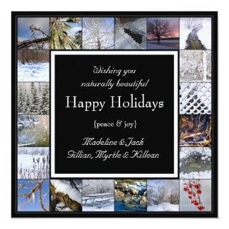Winter Scenes Custom Happy Holidays Christmas Card