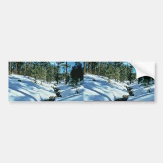 Winter Scenic Car Bumper Sticker