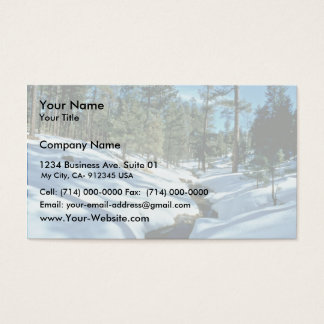 Winter Scenic Business Card