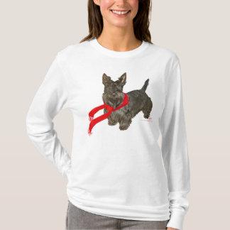Winter Scottie in Wam Scarf T-Shirt