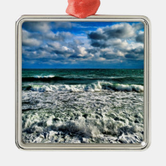 Winter Sea Metal Ornament