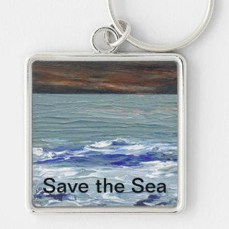 Winter Sea -  Save the Sea Ocean Waves Keychain 2
