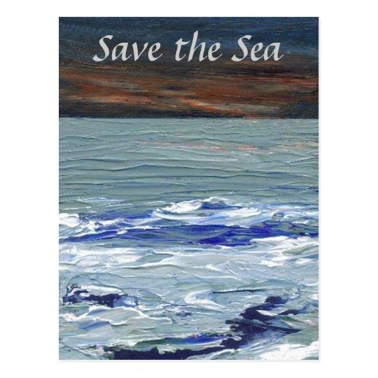 Winter Sea - Save the Sea Ocean Waves Postcard