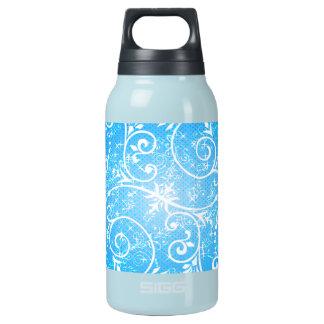 Winter seamless swirls insulated water bottle