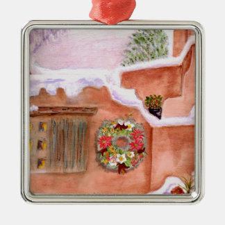 Winter Season Adobe Art Ornament Premium Square