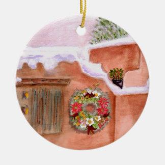Winter Season Adobe Art Ornament Round