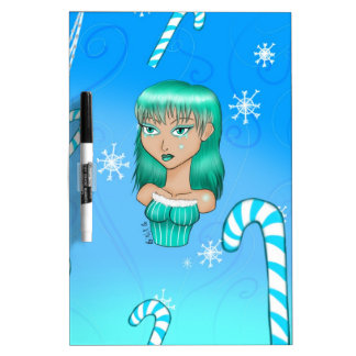 winter season drawing dry erase board